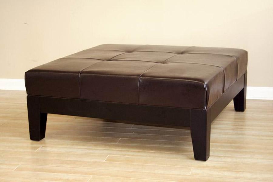 square leather ottoman coffee table storage costco brown regard tables pottery barn