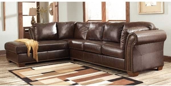Brown Leather Sectional Sofa With Vintage Look Plushemisphere perfectly regarding Vintage Leather Sectional Sofas (Image 12 of 20)