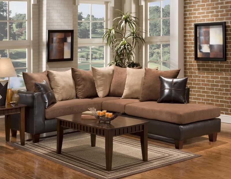 Brown Sectional Couch Reclining Sectional Sofa With Massage And perfectly intended for Condo Sectional Sofas (Image 16 of 20)