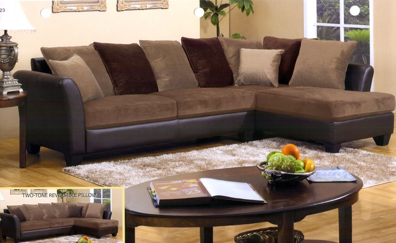 Brown Sectional Couch Reclining Sectional Sofa With Massage And perfectly with regard to Chocolate Brown Sectional Sofa (Image 11 of 20)