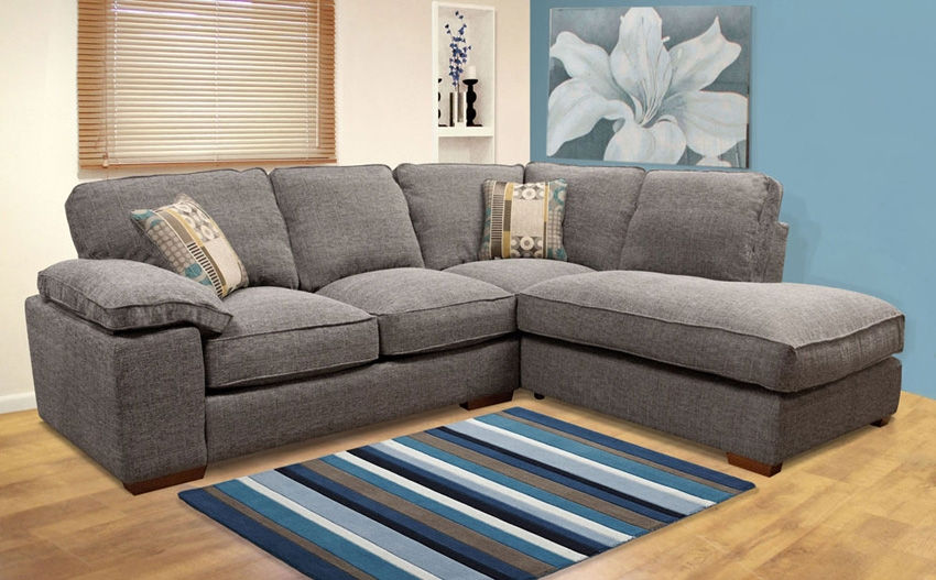 Featured Photo of Fabric Corner Sofa Bed