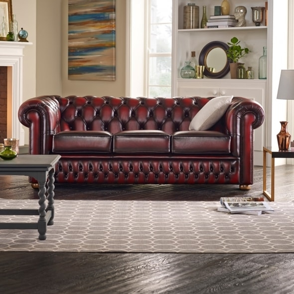 Buy A 3 Seater Chesterfield Sofa At Sofas Saxon definitely regarding Chesterfield Sofas (Image 4 of 20)