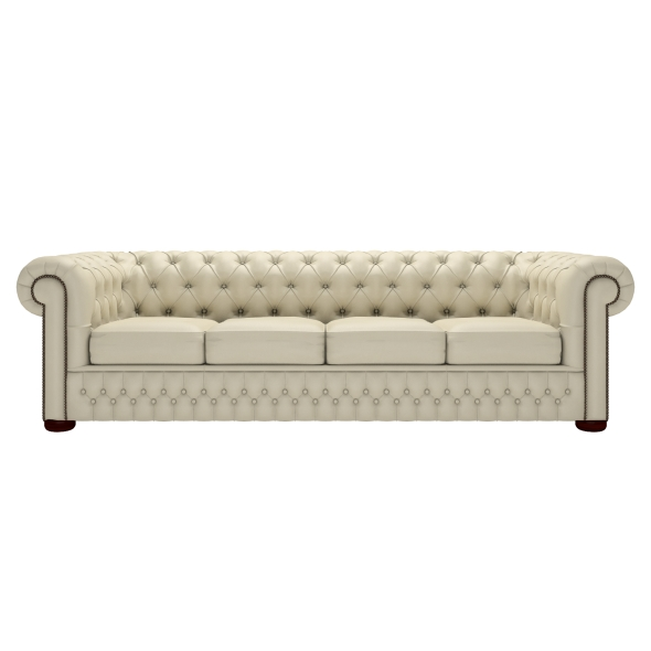 Buy A 4 Seater Chesterfield Sofa At Sofas Saxon Good Intended For Four Seater Sofas (View 13 of 20)
