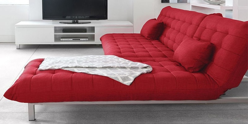 Buy Madison L Shaped Sofa Bed In Red Colour Furny Online Well Inside L Shaped Sofa Bed (View 8 of 20)