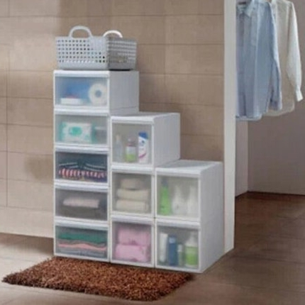 Buy One Hundred Dew Plastic Drawer Storage Cabinets Wardrobe Ba most certainly with regard to Drawers And Shelves For Wardrobes (Image 26 of 30)