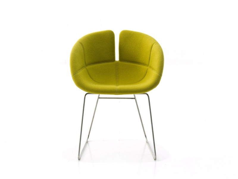 Buy The Moroso Fjord Small Armchair Sled Base At Nestcouk very well in Small Armchairs (Image 13 of 20)