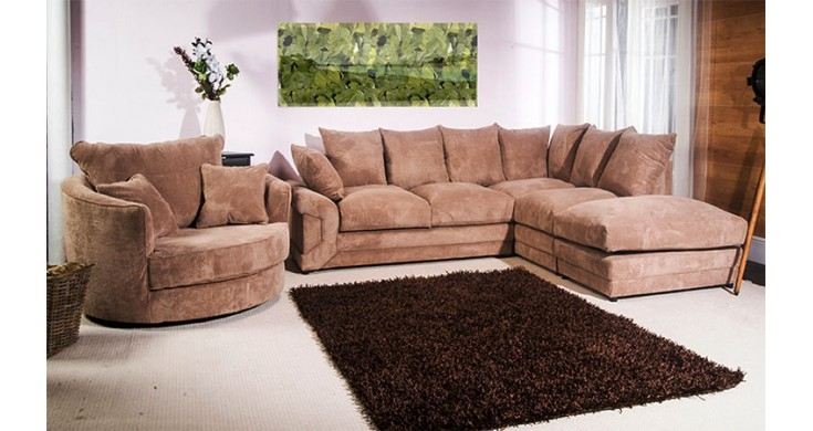 Cammie Fabric Corner Sofa Coffee Discounted Couch clearly for Corner Sofa and Swivel Chairs (Image 6 of 20)