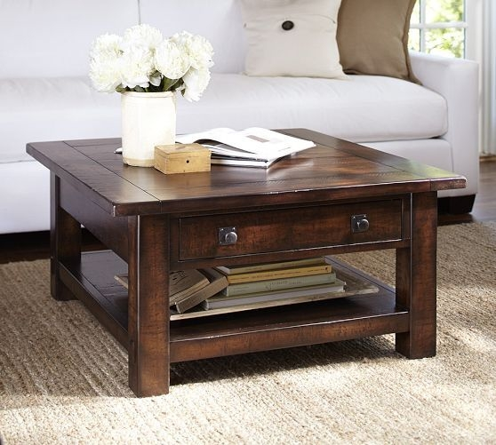 Captivating Rustic Square Coffee Table Coffee Table Rustic Coffee nicely for Square Dark Wood Coffee Table (Image 4 of 20)