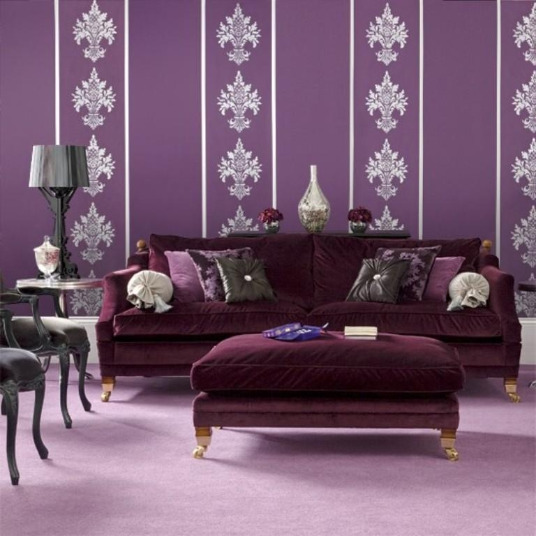 Captivating Velvet Sofa Designs Rilane clearly throughout Velvet Purple Sofas (Image 6 of 20)