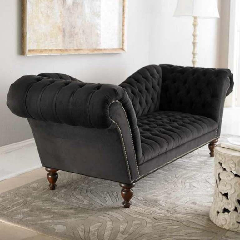 Captivating Velvet Sofa Designs Rilane definitely inside Black Velvet Sofas (Image 6 of 20)