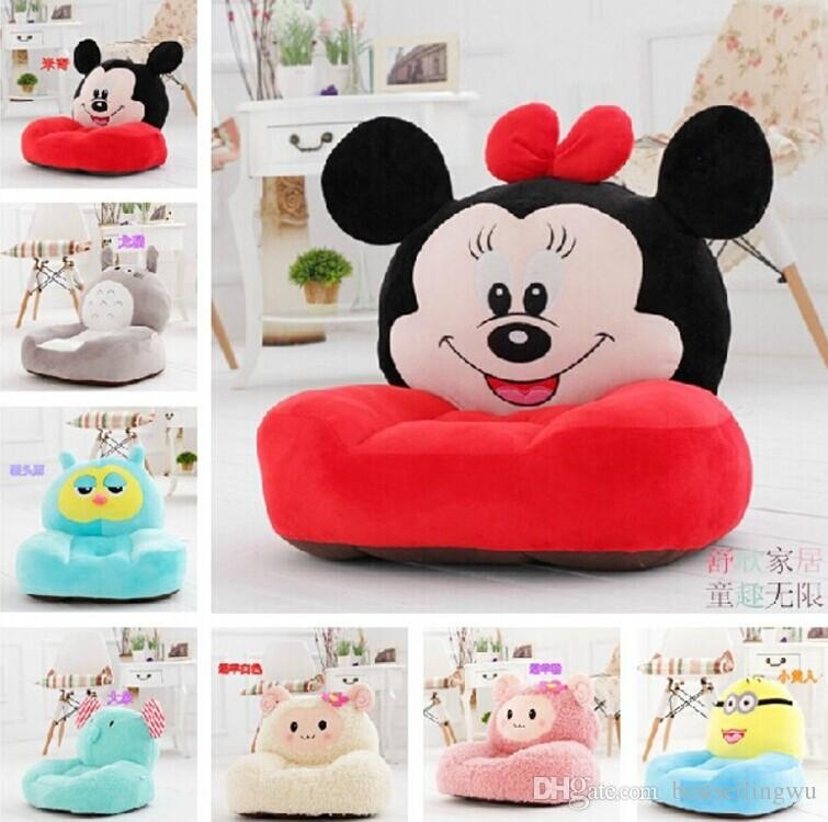 Cartoon Styles Kids Seating Bag Sofa Furniture Chair Soft Plush definitely for Children Sofa Chairs (Image 9 of 20)