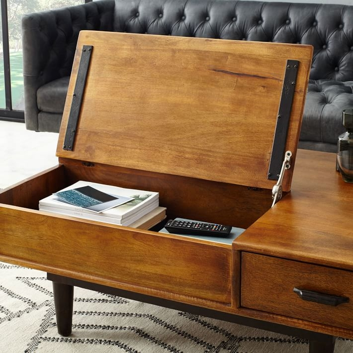 Carved Wood Coffee Table West Elm perfectly for Desk Coffee Tables (Image 10 of 20)