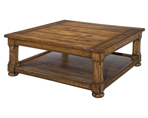 Catchy Wood Square Coffee Table Amish Solid Wood Square Coffee nicely inside Square Dark Wood Coffee Table (Image 5 of 20)