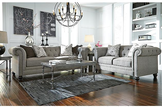 Charcoal Ardenboro Loveseat View 3 Home Pinterest Charcoal effectively in Ashley Tufted Sofa (Image 9 of 20)
