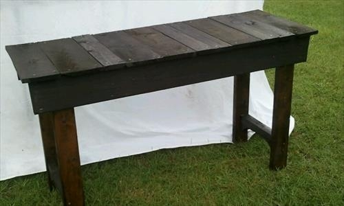 Cheap And Easy To Make Pallet Sofa Table Pallets Designs definitely regarding Patio Sofa Tables (Image 15 of 20)