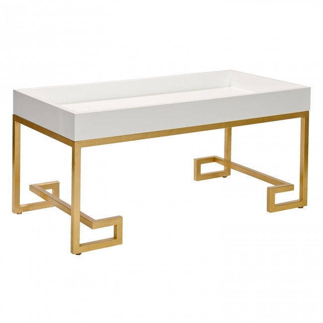 Chelsea White Lacquer Coffee Table very well pertaining to Lacquer Coffee Tables (Image 5 of 20)