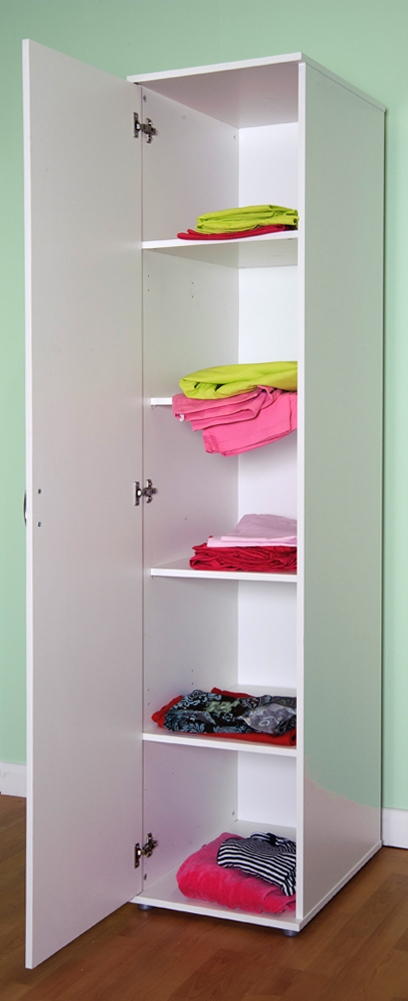 Chester 1 Door Wardrobe Shelves And Or Hanging Rail M0940 Beech effectively with regard to Wardrobes With Shelves  (Image 8 of 20)