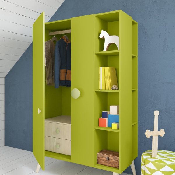 Childrens Modern Wardrobe With Plenty Of Storage Options Mano certainly regarding Childrens Wardrobes With Drawers And Shelves (Image 6 of 30)