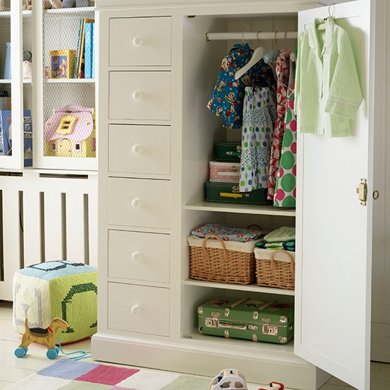 Childrens Room Storage Ideas Ideal Home clearly throughout Childrens Wardrobes With Drawers and Shelves (Image 12 of 30)