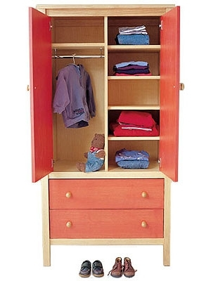 Childrens Wardrobes Junior Rooms most certainly for Wardrobe With Shelves And Drawers (Image 10 of 30)