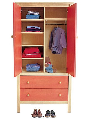Childrens Wardrobes Junior Rooms most certainly within Wardrobes With Shelves And Drawers (Image 8 of 20)