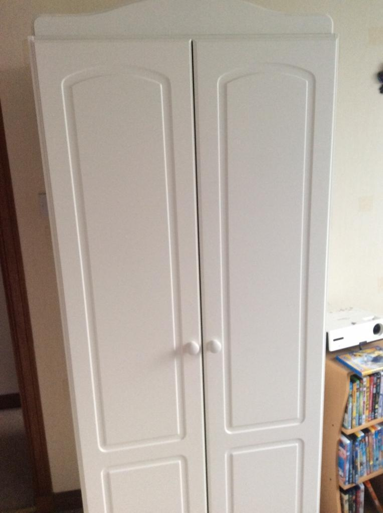 Childrens White Wardrobe Double Rail In Aberdeen Gumtree nicely in Childrens Double Rail Wardrobes (Image 12 of 20)