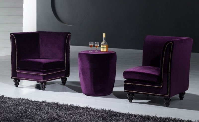 China Purple Velvet Sofa China Purple Velvet Sofa Manufacturers perfectly with Velvet Purple Sofas (Image 7 of 20)