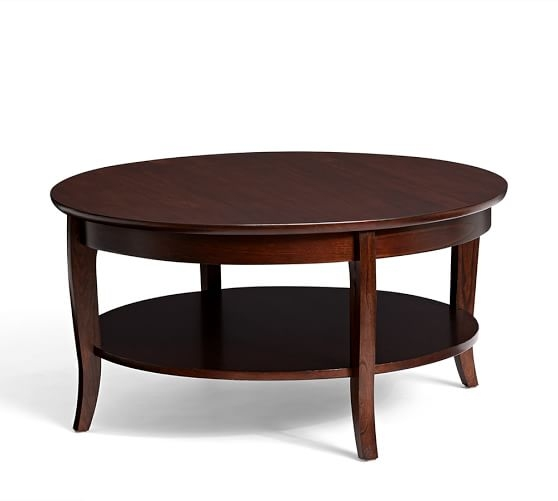 Chloe Round Coffee Table Pottery Barn Very Well Pertaining To Oversized Round Coffee Tables (View 6 of 20)