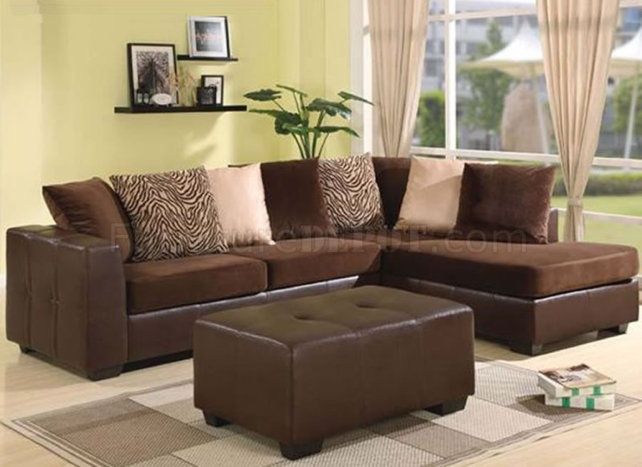 Chocolate Brown Ultra Plush Elegant Contemporary Sectional Sofa good regarding Chocolate Brown Sectional Sofa (Image 15 of 20)