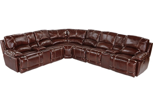 Cindy Crawford Home Van Buren Burgundy 8 Pc Leather Sectional most certainly in Cindy Crawford Home Sectional Sofa (Image 5 of 20)