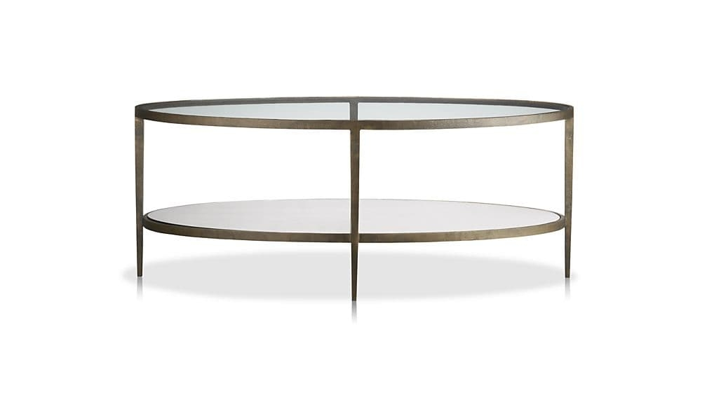 Clairemont Oval Coffee Table Crate And Barrel Most Certainly For Oval Glass Coffee Tables (Photo 1 of 20)