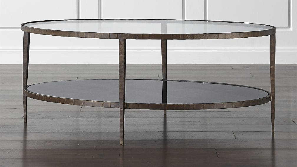Clairemont Oval Coffee Table Crate And Barrel perfectly pertaining to Oval Glass Coffee Tables (Image 8 of 20)