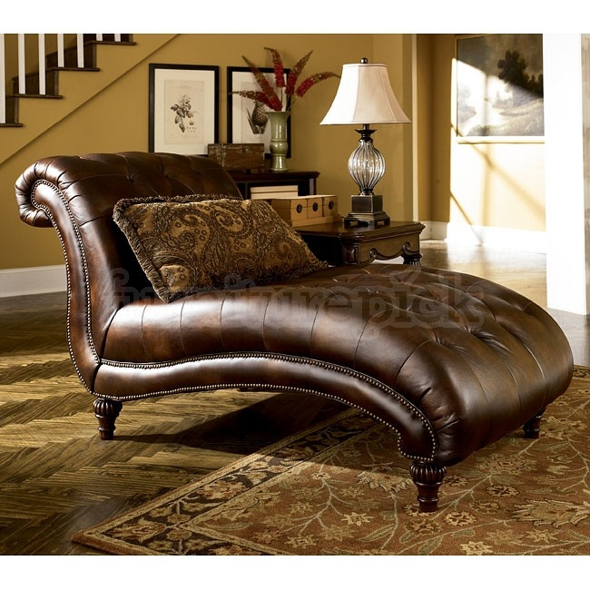 Claremore Antique Living Room Set Signature Design Ashley good intended for Chaise Sofa Chairs (Image 14 of 20)