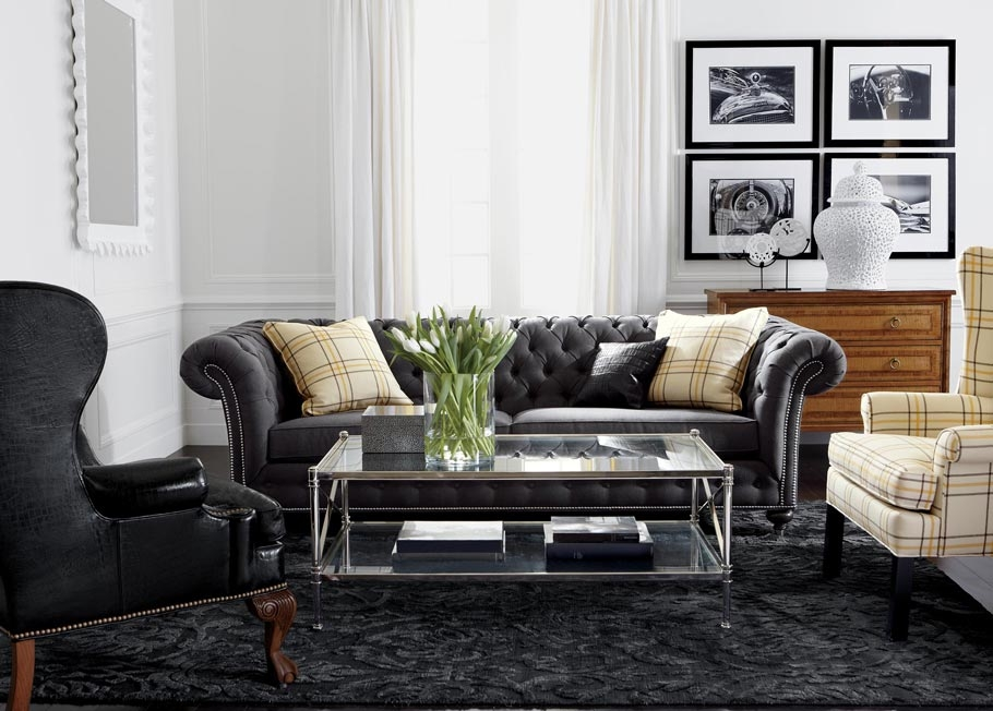 Classic Chrome Living Room Ethan Allen clearly pertaining to Ethan Allen Sofas And Chairs (Image 5 of 20)