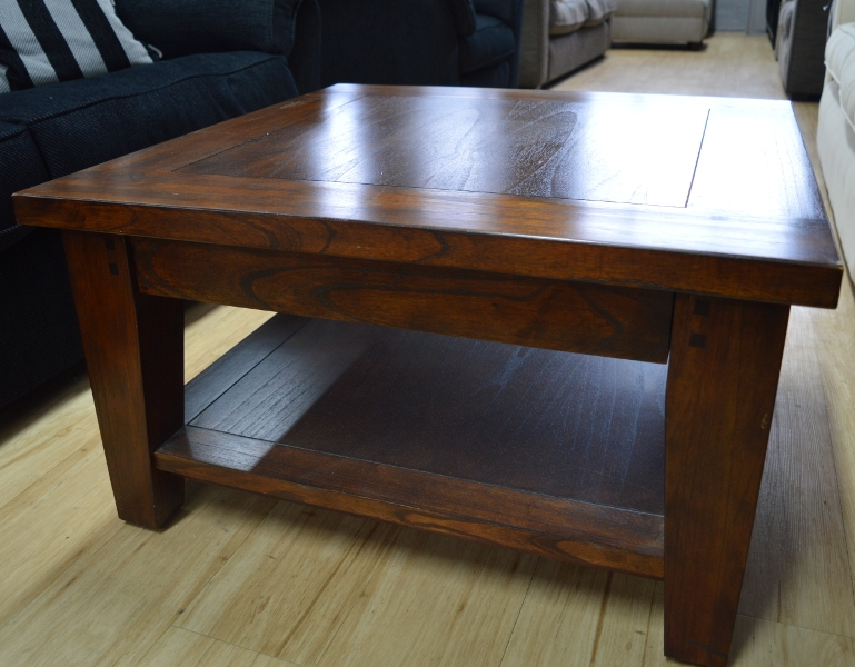 Classic Murano Dark Wood Square Coffee Table Sold nicely with Square Dark Wood Coffee Table (Image 7 of 20)