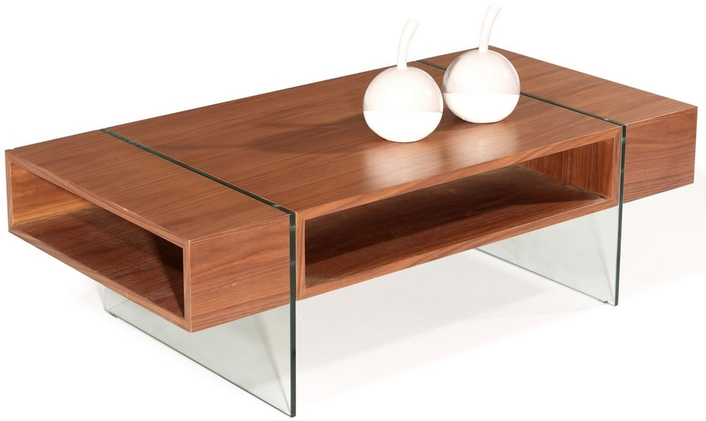 Close Up Detail Of The C3 Modern Wood Coffee Table Shown In Walnut well with regard to Wood Modern Coffee Tables (Image 2 of 20)