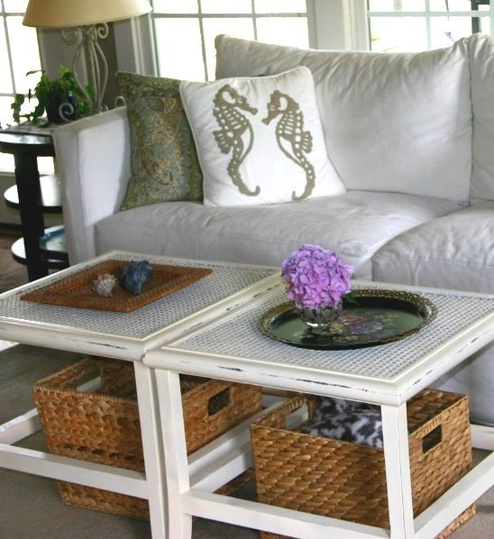 Coastal Wicker Baskets Decorative Storage Ideas For A Beach House definitely throughout Coffee Table With Wicker Basket Storage (Image 13 of 20)