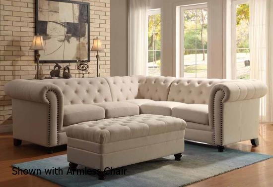 Coaster 500222 Beige Fabric Sectional Sofa Steal A Sofa clearly with Cloth Sectional Sofas (Image 3 of 20)