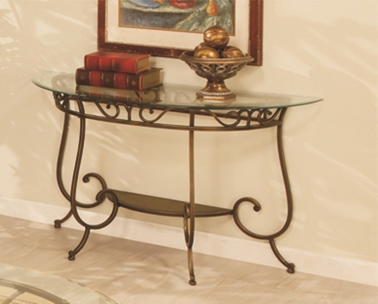 Coaster Custer Chrome Sofa Table With Metal Base And Curved Glass certainly with Metal Glass Sofa Tables (Image 11 of 20)