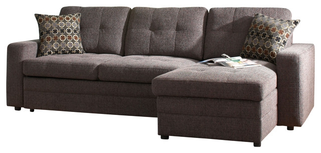 Coaster Gus Chenille Sectional Sofa Charcoalblack Contemporary good regarding Chenille and Leather Sectional Sofa (Image 7 of 20)