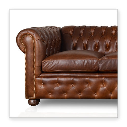 Cococo Custom Chesterfield Leather Tufted Sofas Made In Usa good with regard to Leather Chesterfield Sofas (Image 11 of 20)
