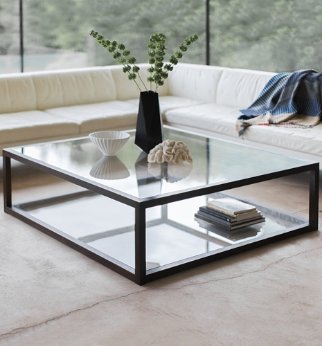 Coffee Table Astounding Square Glass Coffee Tables Design Home perfectly inside Metal Square Coffee Tables (Image 7 of 20)