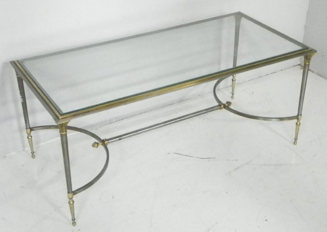 Coffee Table Contemporary Design Vintage Glass Coffee Table nicely pertaining to Vintage Glass Top Coffee Tables (Image 8 of 20)