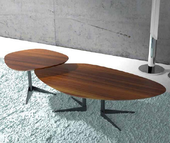 Coffee Table Contemporary Walnut Oval Seventy Wood Well Inside Oval Walnut  Coffee Tables (Image 3
