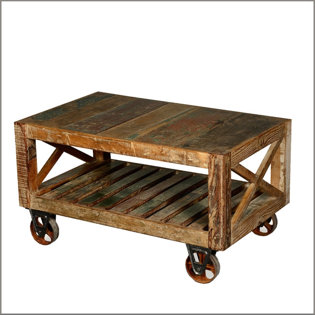 Coffee Table Enchanting Rustic Wood Coffee Table In Your Living perfectly regarding Rustic Coffee Table With Wheels (Image 2 of 20)