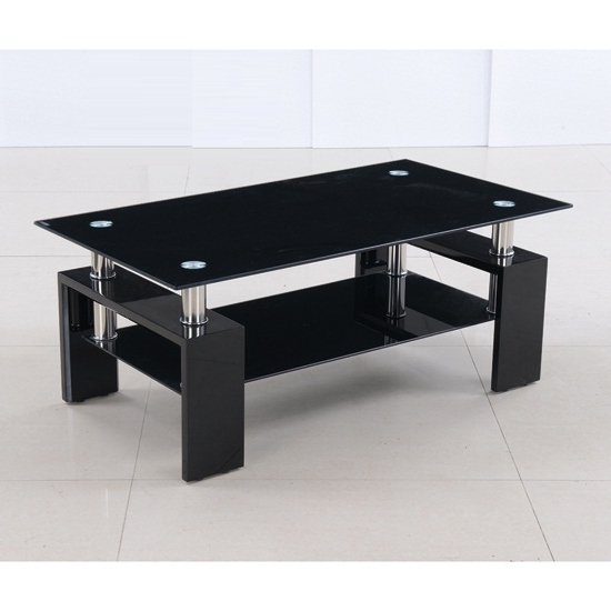 Featured Photo of Unique Black Glass Coffee Table