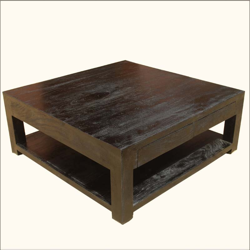 Coffee Table Formidable Large Square Coffee Table Square End nicely regarding Square Dark Wood Coffee Table (Image 11 of 20)