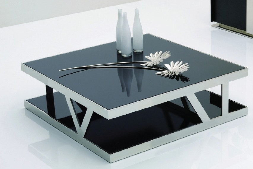 Coffee Table Marvelous Square Black Coffee Table Large Square most certainly with Unique Black Glass Coffee Table (Image 18 of 30)