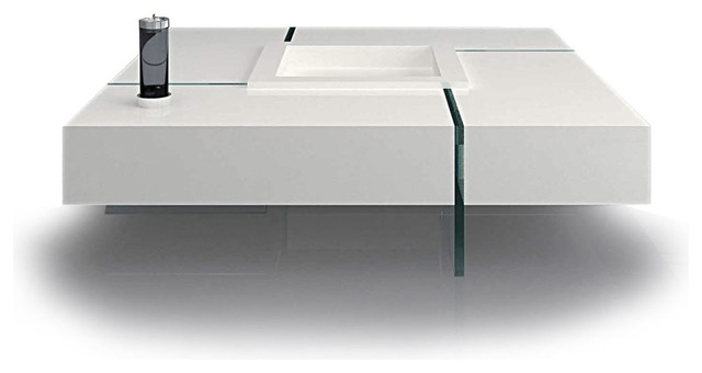 Coffee Table Marvelous Square White Coffee Table White Coffee well inside Floating Glass Coffee Tables (Image 5 of 20)