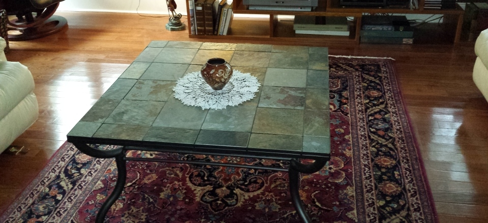 Coffee Table Model Slate Coffee Table Slate Furniture Slate End most certainly with Round Slate Top Coffee Tables (Image 9 of 20)
